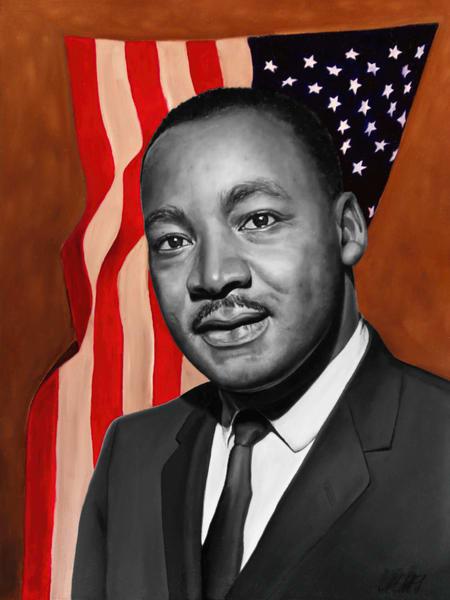Martin Luther King Jr | Original Oil Painting Art | MMG Art Studio | Fine Art Colorado Gallery