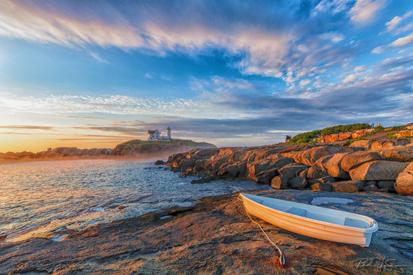 The Boat At The Nubble Photography Art | Richard J Snow Photography