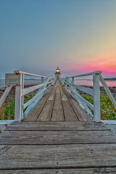 View Down The Walkway   Marshall Point Photography Art | Richard J Snow Photography