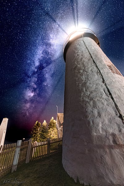 Milky Way Over Pemaquid Point Light   Alternate Photography Art | Richard J Snow Photography
