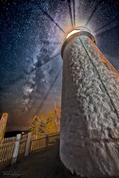 Milky Way Over Pemaquid Point Light Photography Art | Richard J Snow Photography