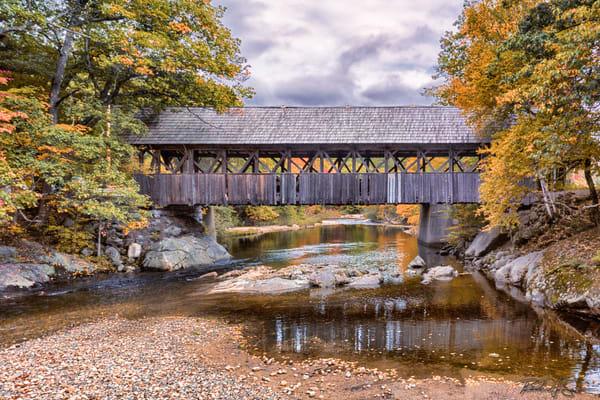 Artist's Bridge In Fall Photography Art | Richard J Snow Photography