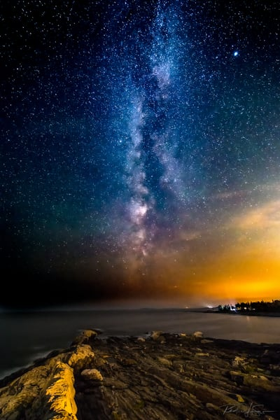 Milky Way At Pemaquid Point   2 Photography Art | Richard J Snow Photography