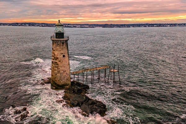 Ram Island Ledge Light   Aerial Photography Art | Richard J Snow Photography