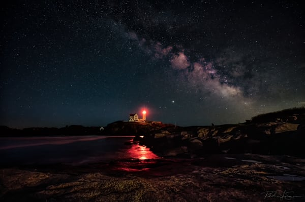 Milky Way Over The Nubble Photography Art | Richard J Snow Photography