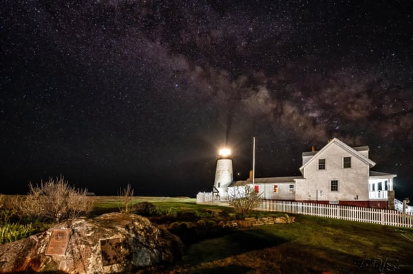 Milky Way Over Pemaquid Point Light House Photography Art | Richard J Snow Photography