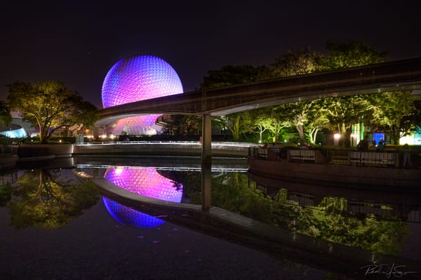 Reflection Of Spaceship Earth Photography Art | Richard J Snow Photography