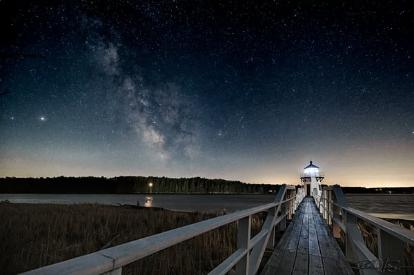 The Walkway   Milky Way Over Doubling Point Light Photography Art | Richard J Snow Photography
