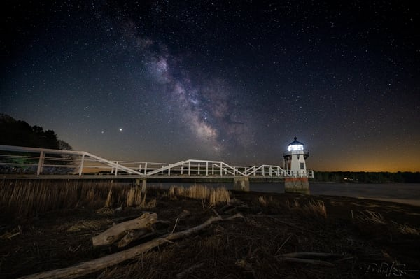 Milky Way Over Doubling Point Light Photography Art | Richard J Snow Photography