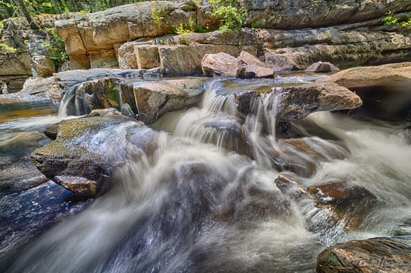 Long Exposure   Above The Falls   Silver Ripple Cascade Photography Art | Richard J Snow Photography