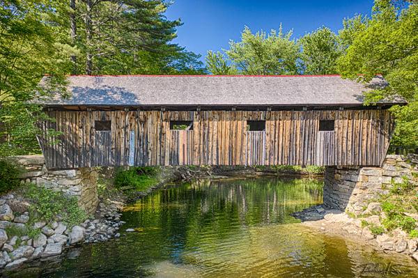 Lovejoy Covered Bridge Photography Art | Richard J Snow Photography