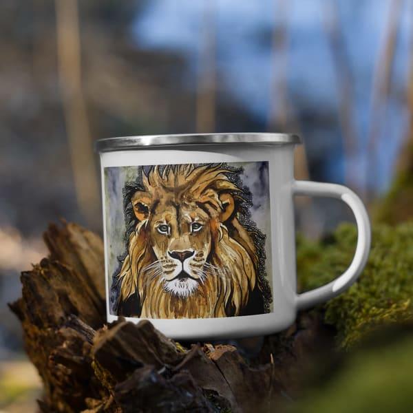 Lion Enamel Mug | Water+Ink Studios
