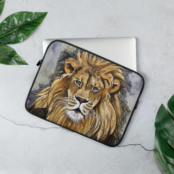 Lion Laptop Cases | Water+Ink Studios