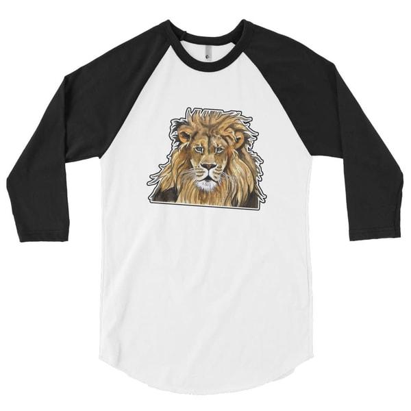 The Lion 3/4 Sleeve Raglan Shirt | Water+Ink Studios