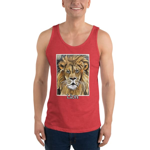 Lion Unisex Tank Top | Water+Ink Studios