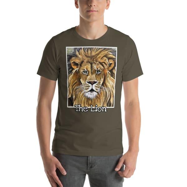 Lion Short Sleeved T Shirt | Water+Ink Studios