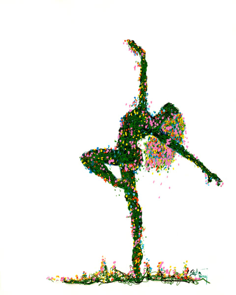 Garden Dance V Art | Hackley Fine Art