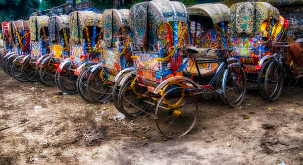 Colorful Rickshaws Photography Art | Sudha Photography