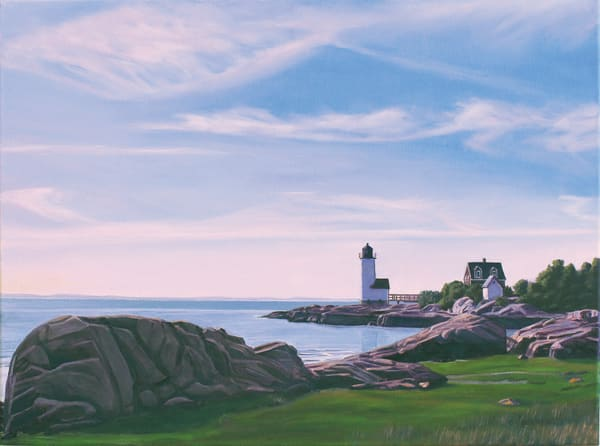 Squam Light Evening Art | The Art of David Arsenault