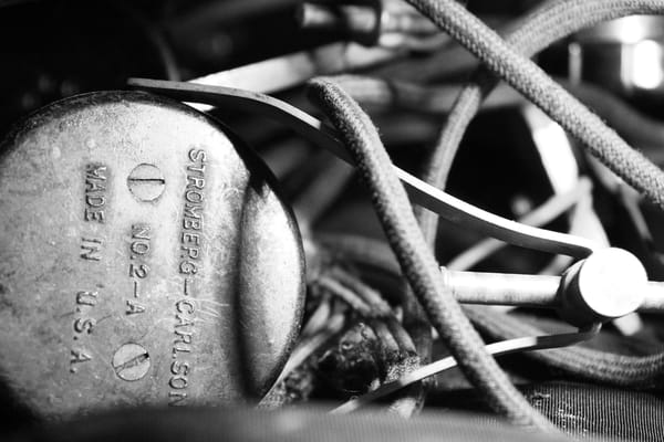 Ashley Caldwell - photography - black and white - vintage telephone - Stromberg-Carlson - Wires Crossed