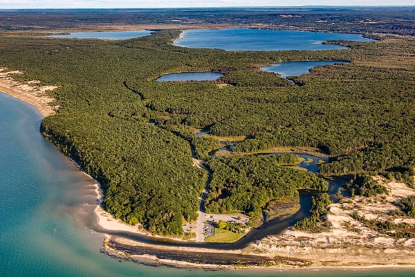 Aerial View Of The Lower Platte River And Platte Lakes Photography Art   Drew Smith Photography, LLC