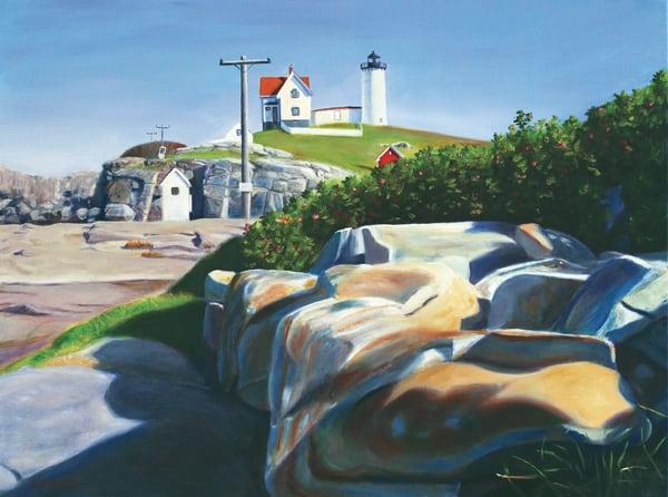 Cape Neddick High Light Art   The Art of David Arsenault