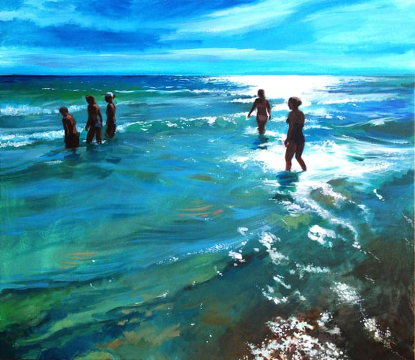 Between The Waves (From The Open Spaces Series) (Original Sold) Print Available Art | Adam Benet Shaw Studios