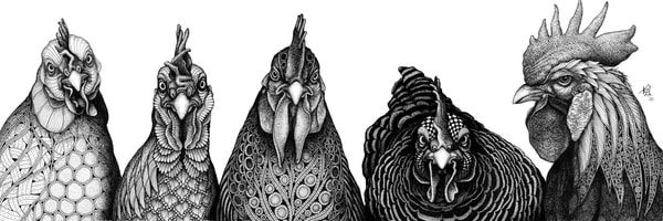 """Rulers Of The Roost   Kristin Moger """"Seriously Fun Art"""""""