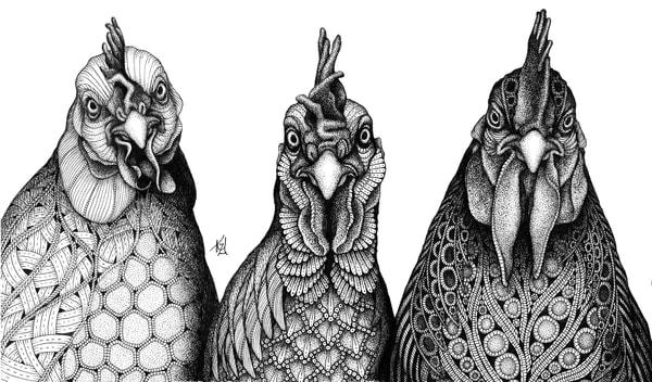 "Birds Of A Feather | Kristin Moger ""Seriously Fun Art"""