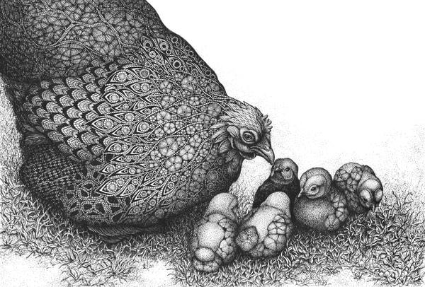 "Tired Mama | Kristin Moger ""Seriously Fun Art"""