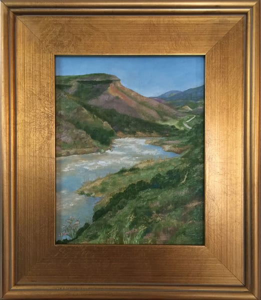 """Spring Flood On The Rio Grande"" Art 