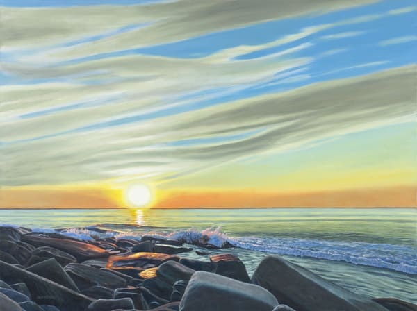 End Of Day, Halibut Point Art   The Art of David Arsenault