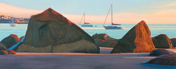 Front Beach Rocks And Boats Art   The Art of David Arsenault