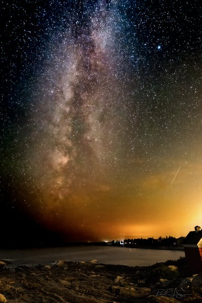 Milky Way From Pemaquid Point Photography Art | Richard J Snow Photography