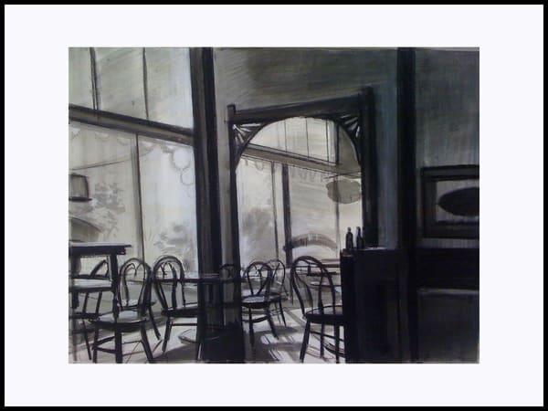 Empty Cafe (Original) Art   Adam Benet Shaw Studios