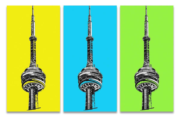 Cn Tower High Tone Y/B/G  Art | Asaph Maurer