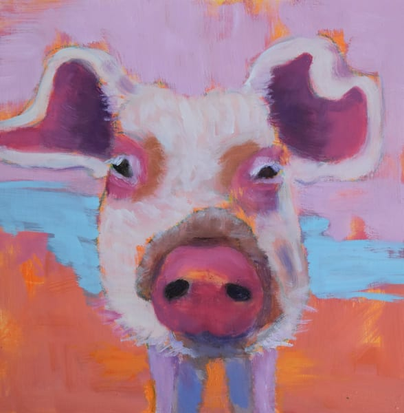 Joy In Pink   Original Oil On Cradled Panel Art | Sharon Guy