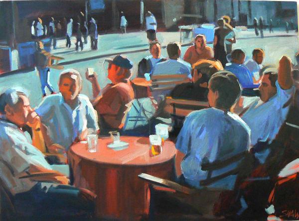 Outdoor Cafe (From The Open Spaces Series) Art | Adam Benet Shaw Studios