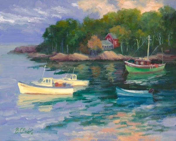 Day's End   New Harbor Maine Print Art | B. Oliver, Art