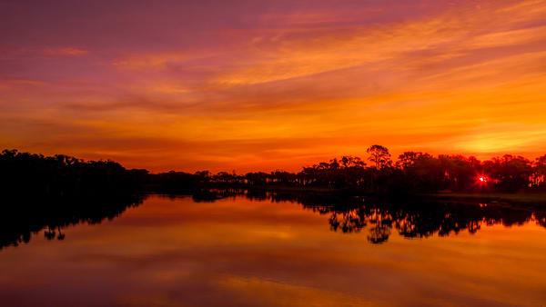 Sunrise Over Hunting Island State Park Lagoon Photography Art | Willard R Smith Photography
