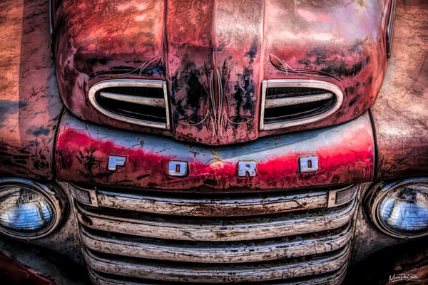 Red Ford Pickup Photography Art | Michael Penn Smith - Vision Worker