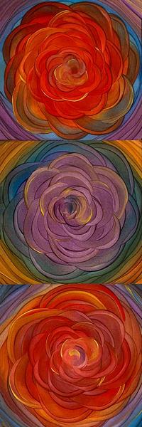 Floral Mandala Tryptych 1 - Original