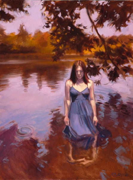 Reflections In A Shallow Lake (From The Elise And Melancholy Series) Art | Adam Benet Shaw Studios
