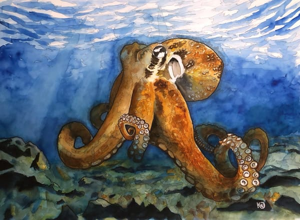 Bottom Of The Ocean   Original Art | Water+Ink Studios