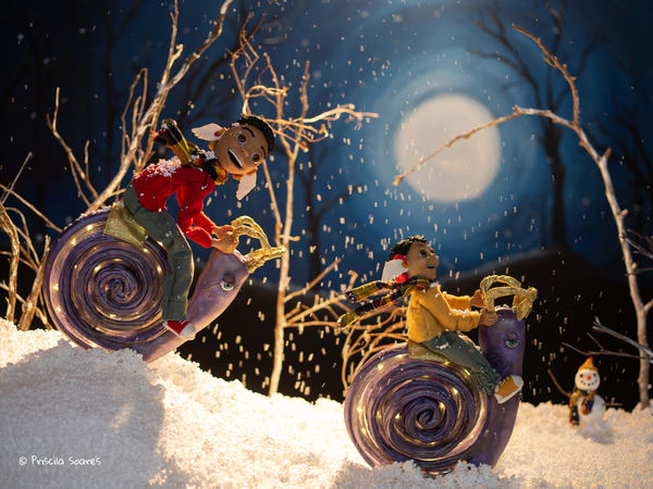December Calendar Scene Art | Priscila Soares - MyLuckyEars