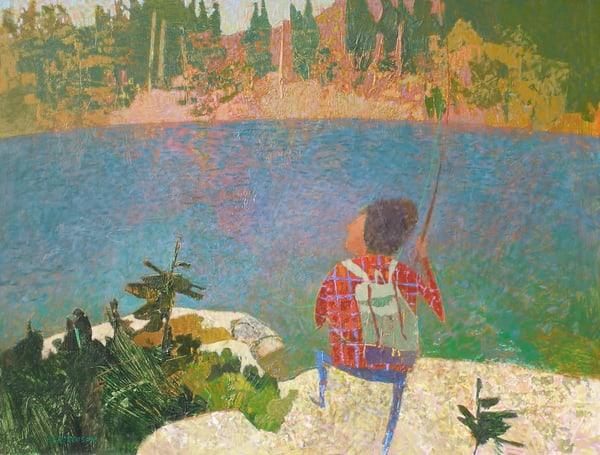 Highlakes Fisherman Art | Fountainhead Gallery