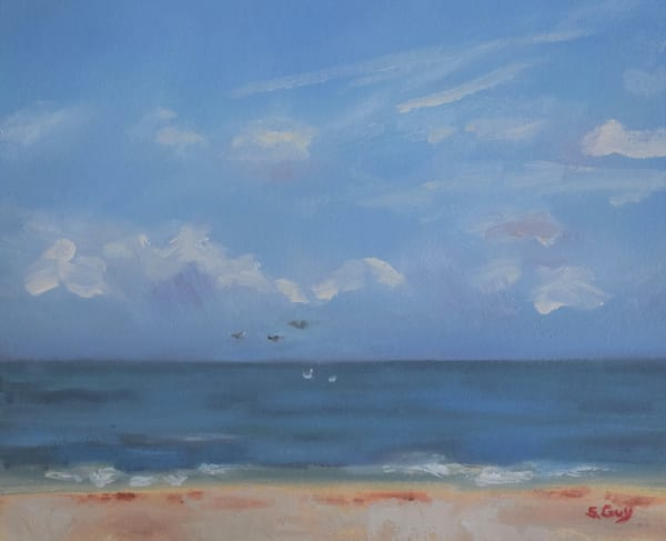 Sand Sea And Sky Art | Sharon Guy