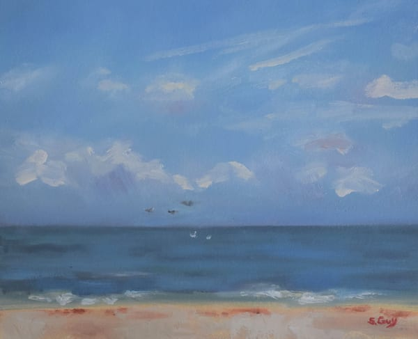 Sand Sea And Sky   Original Oil Art | Sharon Guy