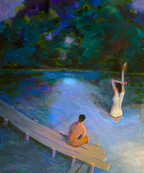 The Night Swim  Art | Charles Wallis