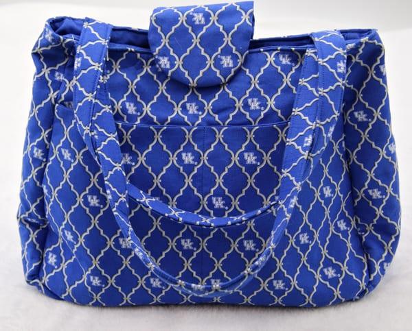 Handmade Cloth Womens University of Kentucky Shoulder Purse Handbag